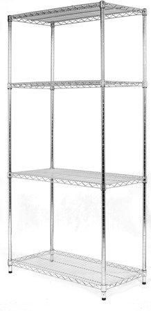Regał Chrom 4-półki (36x61x182cm)